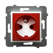 Gniazdo pojedyncze z uziemieniem DATA z kluczem uprawniającym