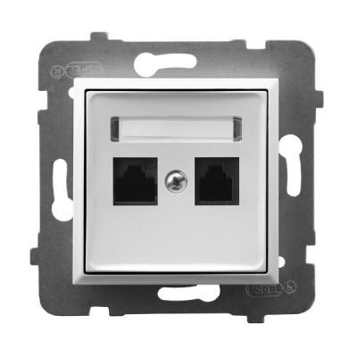 Gniazdo komputerowe podwójne, kat. 5e MMC
