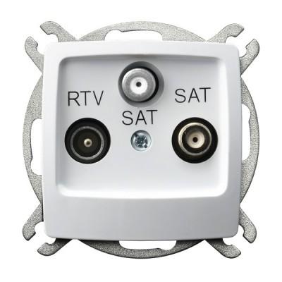 Gniazdo RTV-SAT z dwoma wyjściami SAT